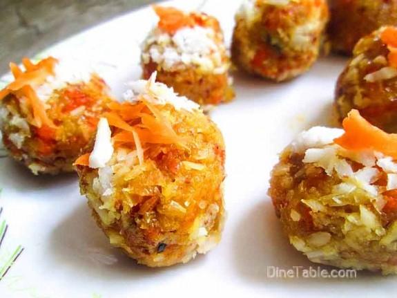 Carrot Coconut Balls / Easy