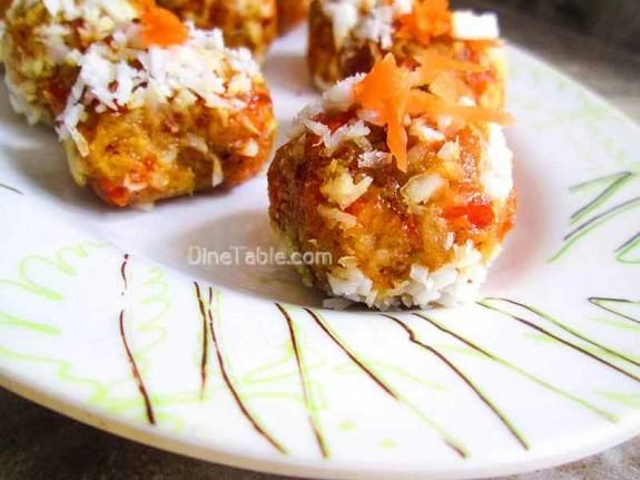 Carrot Coconut Balls / Tasty