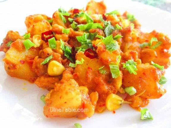 Potato and Corn Peralan / Vegetarian Recipe