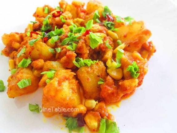 Potato and Corn Peralan / Spicy Recipe