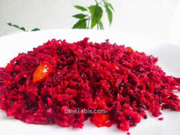 Beetroot Thoran Recipe / Homemade