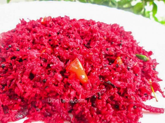 Beetroot Thoran Recipe / Easy