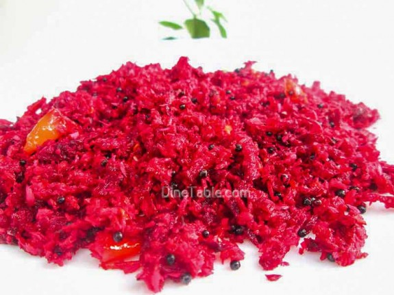 Beetroot Thoran Recipe / Vegetarian Dish