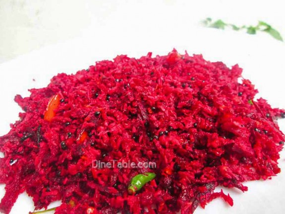 Beetroot Thoran Recipe / Side Dish