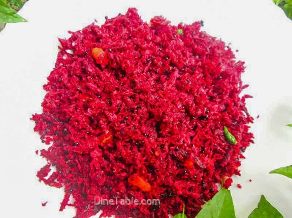 Beetroot Thoran Recipe / Delicious