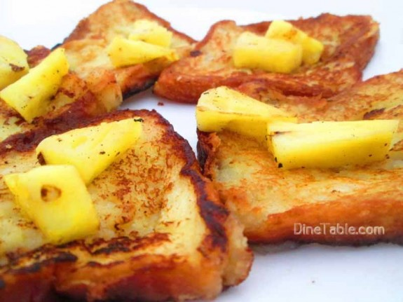 Pineapple French Toast / Evening Snack