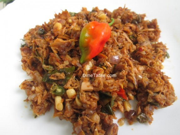 Kerala Style Canned Tuna Thoran Recipe  / Fish Recipe