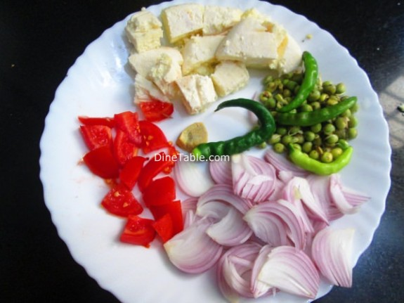 Matar Paneer Recipe / Easy Dish