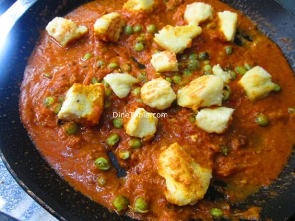 Matar Paneer Recipe / Simple Dish