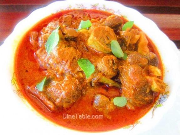 Nadan Mutton Curry Recipe / Kerala Dish