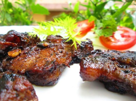 Pan Grilled Beef Steak Recipe / easy dish