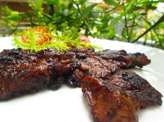 Pan Grilled Beef Steak Recipe / simple dish