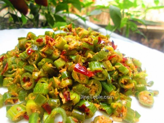 Spring Onion Thoran Recipe / Healthy dish