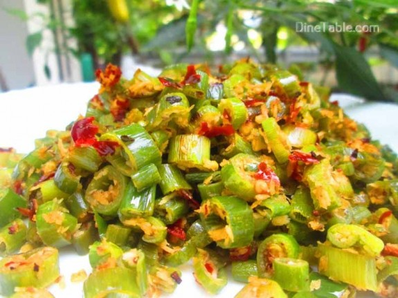Spring Onion Thoran Recipe / Easy dish