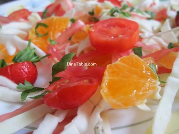 Cabbage And Orange Salad Recipe / Healthy Salad