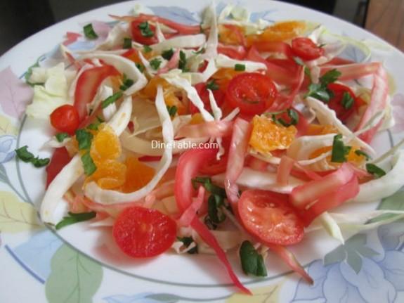 Cabbage And Orange Salad Recipe / Tasty Salad
