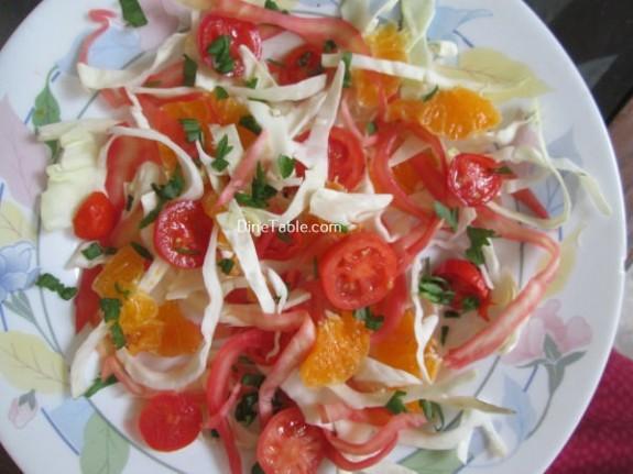Cabbage And Orange Salad Recipe / Easy Salad