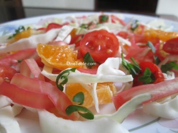 Cabbage And Orange Salad Recipe / Simple Salad