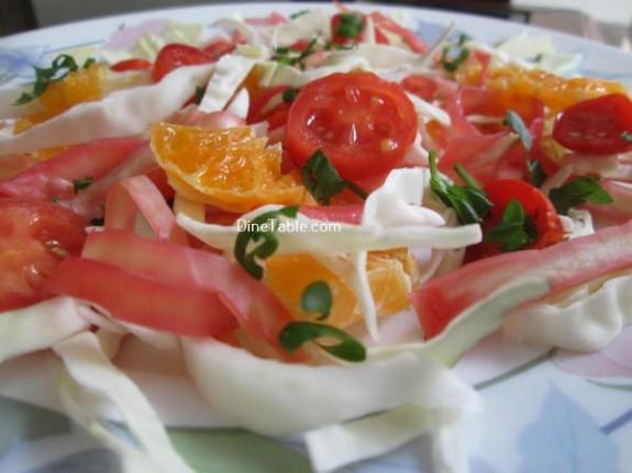 Cabbage And Orange Salad Recipe / Quick Salad