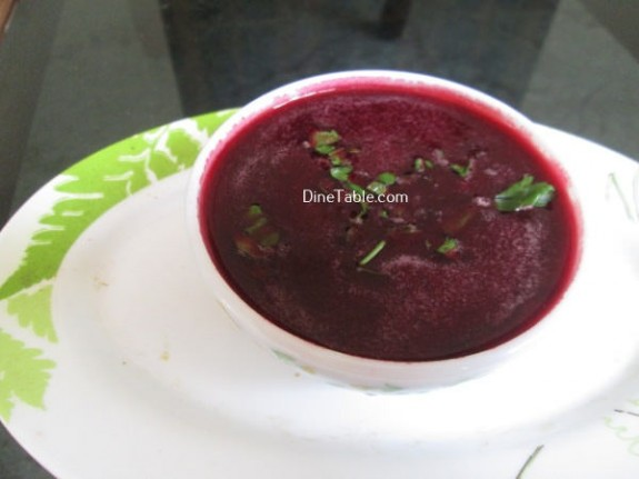 Carrot Beetroot And Orange Soup Recipe / Easy Soup