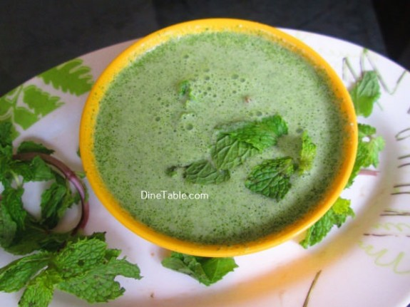 Hara Masala Raita Recipe / Quick Dish