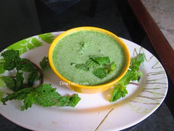 Hara Masala Raita Recipe / Side Dish
