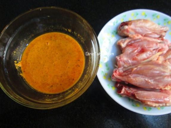 Oats Coated Crispy Fried Chicken Wings Recipe / Fried Dish