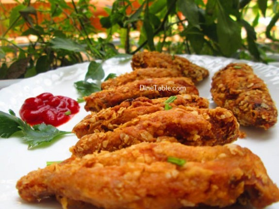 Oats Coated Crispy Fried Chicken Wings Recipe / Tasty Dish