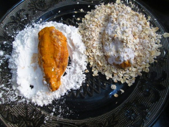 Oats Coated Crispy Fried Chicken Wings / Chicken fry Recipe