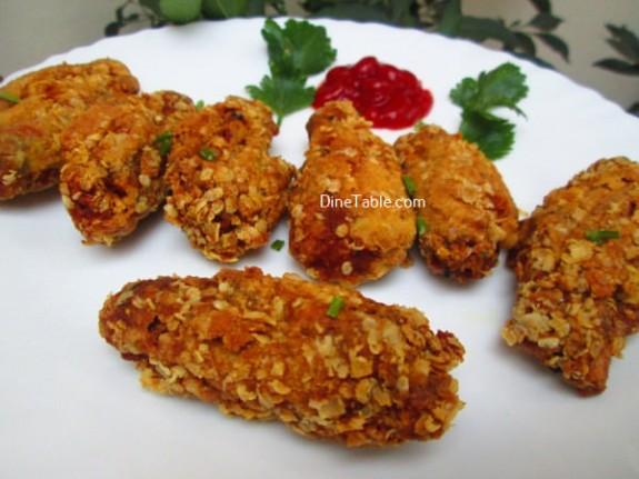Oats Coated Crispy Fried Chicken Wings / Kids Snack