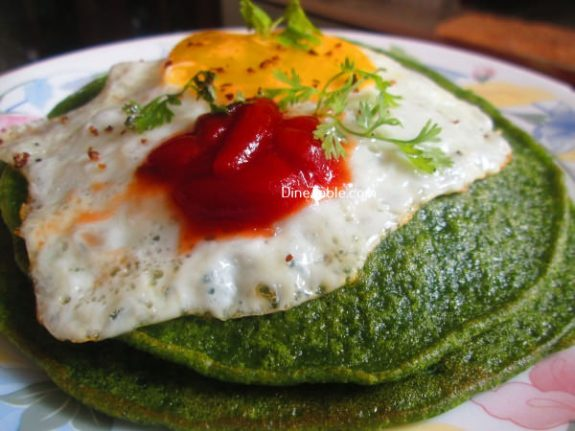 Cilantro And Spinach Pancakes Recipe / Tasty Pancake