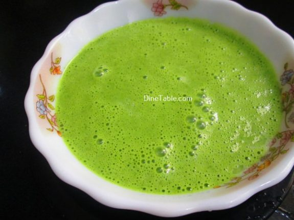 Cilantro And Spinach Pancakes Recipe / Homemade Pancake