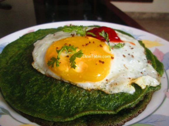 Cilantro And Spinach Pancakes Recipe / Easy Pancake