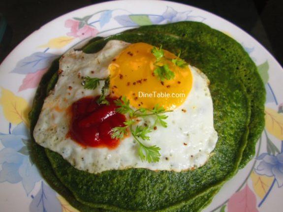Cilantro And Spinach Pancakes Recipe / Simple Pancake