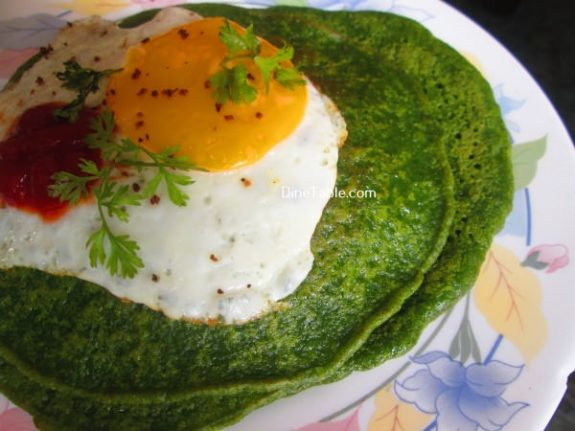 Cilantro And Spinach Pancakes Recipe / Deliciuos Pancake