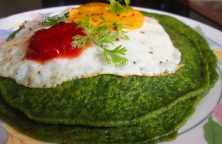 Cilantro And Spinach Pancakes Recipe / Nutritious Pancake