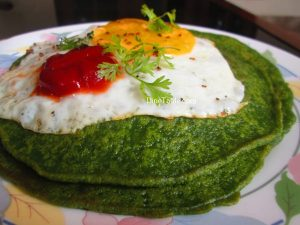 Cilantro and Spinach Pancake