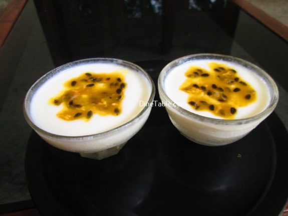 Milk Pudding With Passion Fruit Topping Recipe / Simple Pudding