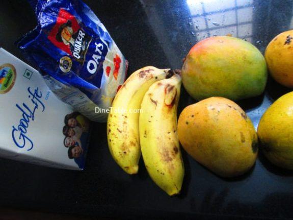 Oats With Mango And Banana Recipe / Homemade Dish