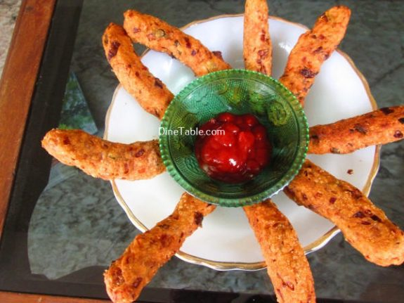 Spicy Vegetable Fingers Recipe / Healthy Dish