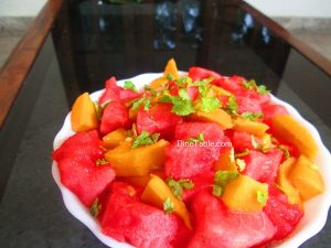 Watermelon Mango Salad Recipe