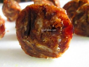 Dates Biscuit Roll Recipe