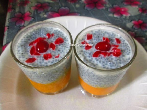 Mango KasKas Pudding Recipe / Homemade Pudding