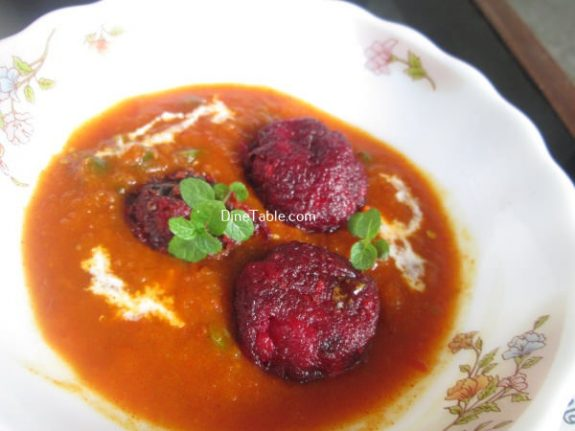 Beetroot Kofta Curry Recipe / Beetroot Curry