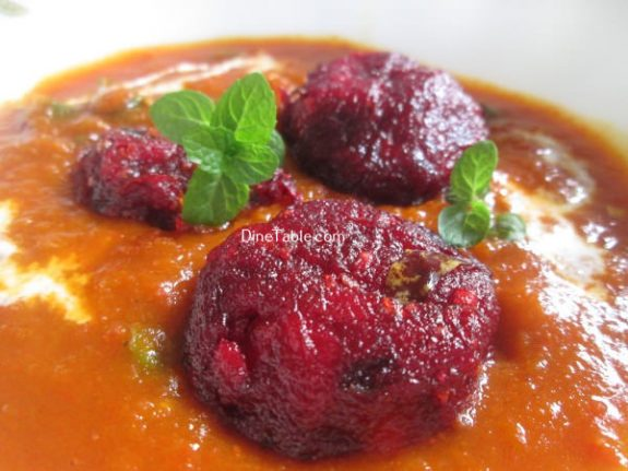 Beetroot Kofta Curry Recipe / Kofta Curry