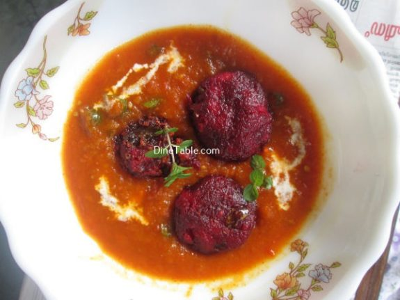 Beetroot Kofta Curry Recipe / Nutritious Curry