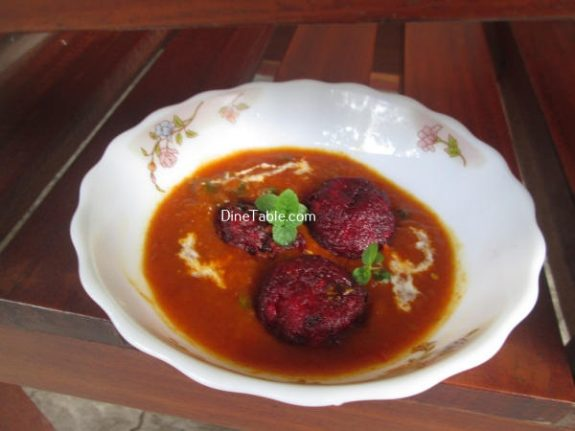 Beetroot Kofta Curry Recipe / Excellent Curry