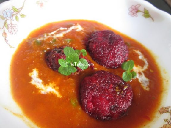 Beetroot Kofta Curry Recipe / Easy Curry