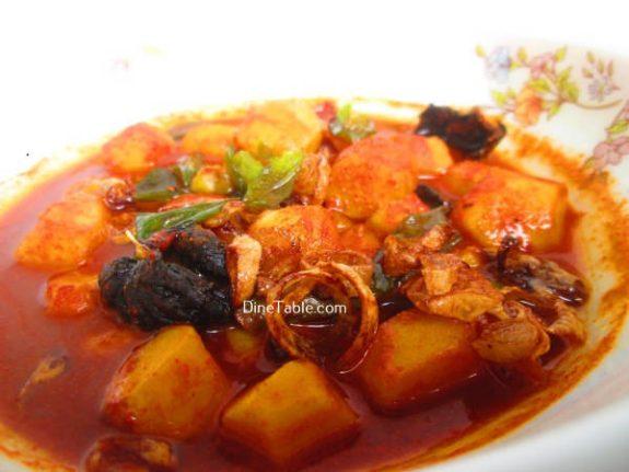 Chembu Mulakittathu Recipe / Easy Curry