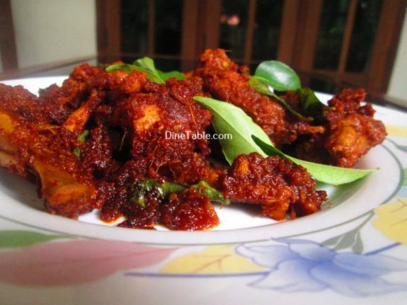 Chicken Ghee Roast Recipe / Dry Roast Dish